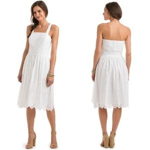 NWT Vineyard Vines White Eyelet Summer Midi Dress